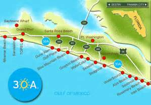 30a south walton map of scenic 30a and south walton florida