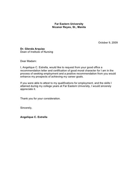 Endorsement Letter For Moral Letter To Dean