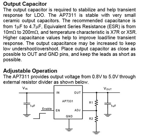 output capacitor selection for ldo voltage regulator ldo minimum esr on output capacitor electrical engineering stack exchange