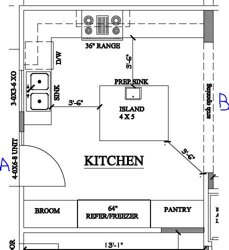 kitchen floor plans islands island kitchen floorplan critique