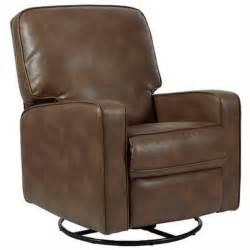 pri sutton fabric swivel glider recliner in chestnut 521202