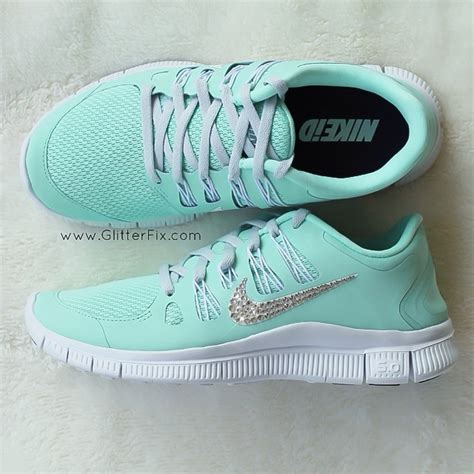 mint green nike running shoes womans nike free run 5 0 pink violet shoes embellished