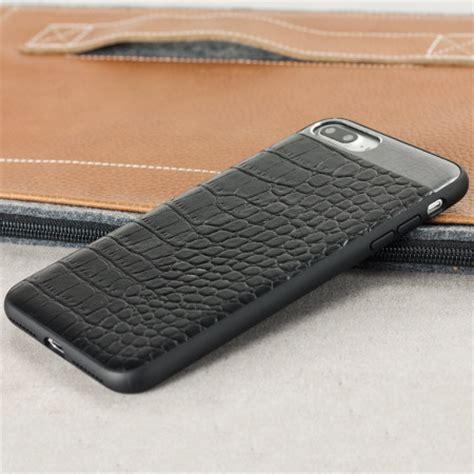 croco genuine leather iphone     case black