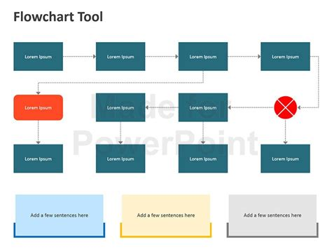 Flowchart Tool Editable Powerpoint Template Ppt Flowchart Template