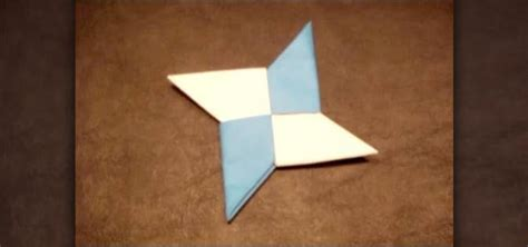 Origami Shuriken - how to make a sided origami shuriken