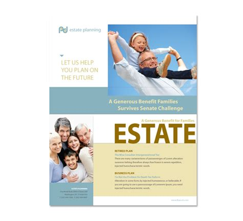 Estate Planning Flyer Template Estate Planning Templates