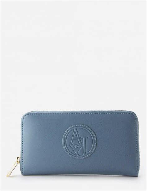 light blue guess purse logo zip around s purse light blue