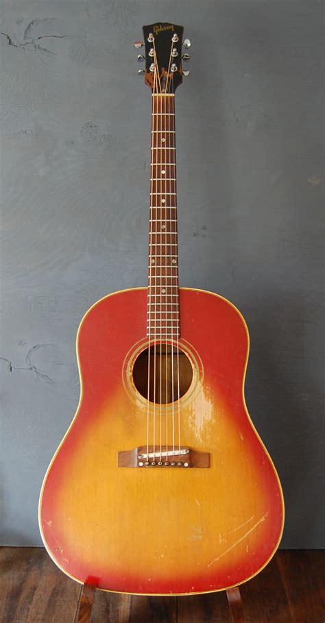 Moofeat Slop Gibson 1 1968 gibson j45 adj acoustic guitar slope shoulder cherry reverb