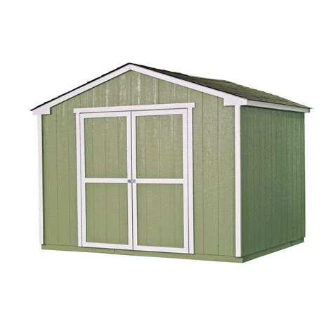 handy home products cumberland  ft   ft wood shed
