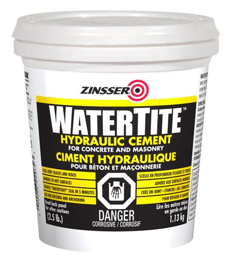 zinsser zinssr hydraulic cement 1 13kg the home depot canada