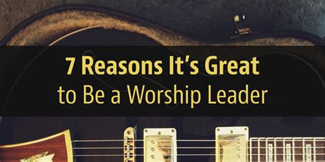7 Reasons Why Being An Economist Is Great 7 reasons it s great to be a worship leader worship set