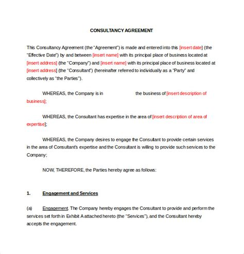 Free Consulting Template by 12 Consulting Agreement Templates Free Sle Exle