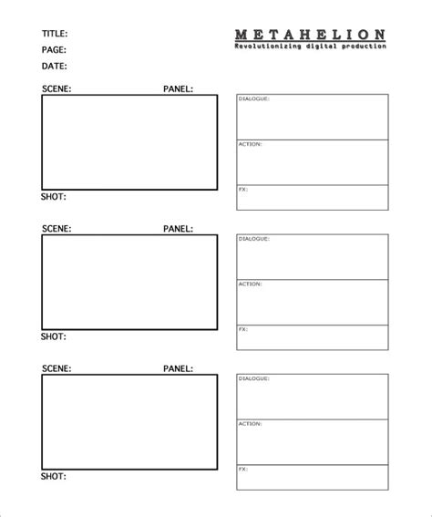 7 commercial storyboard templates free word pdf format