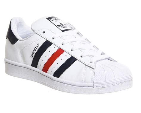 Adidas Blue List White mens adidas superstar 1 white collegiate navy trainers