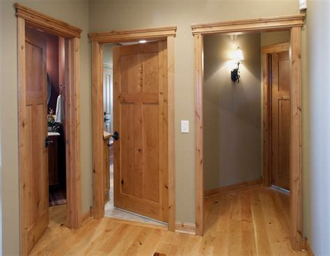 knotty alder stile rail wood interior door with flat panels minneapolis by stallion doors