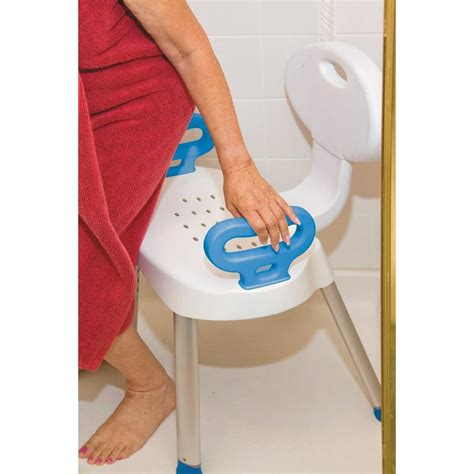 Carex Adjustable Bath And Shower Seat With Back carex ez bath and shower chair with handles shower chairs