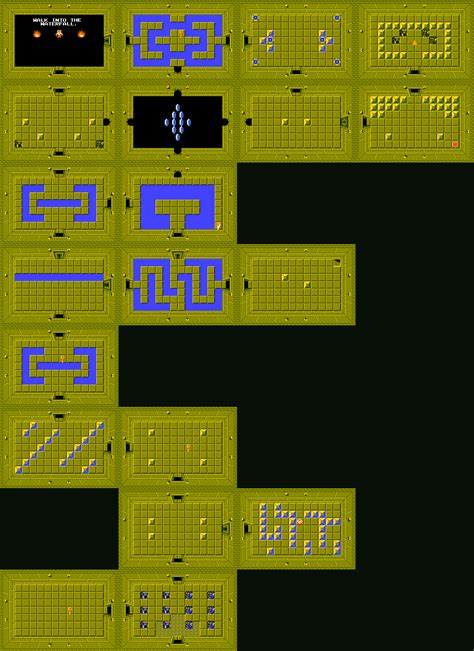 legend of zelda dungeon maps second quest the legend of zelda world maps