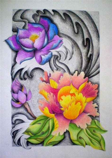 japanese lotus i by janasuely on deviantart