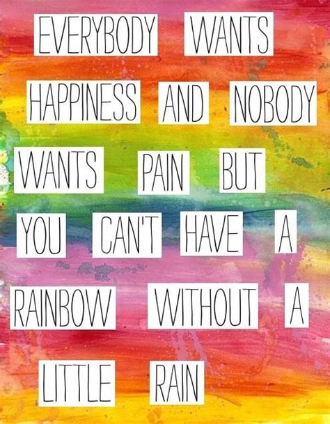 quotes on colours and happiness rainbow quote tumblr quotes pinterest rain quotes