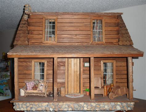 Log Cabin Dollhouse Kit by Adirondack Nana S Dollhouses And Miniatures