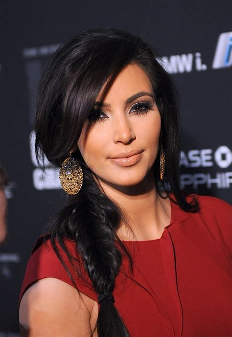 braided hairstyles kim kardashian kim kardashian fishtail braid ragstowrinkles