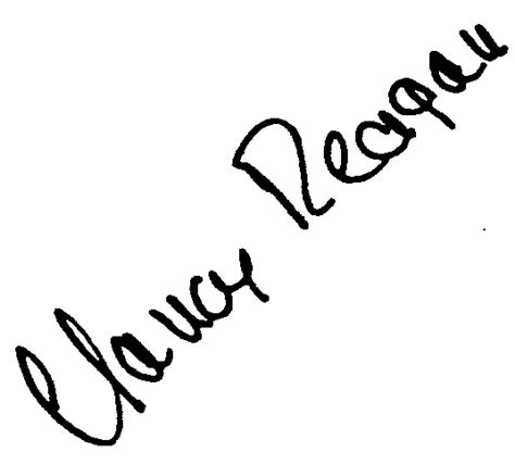 nancy reagan signature autograph world nancy reagan facsimile