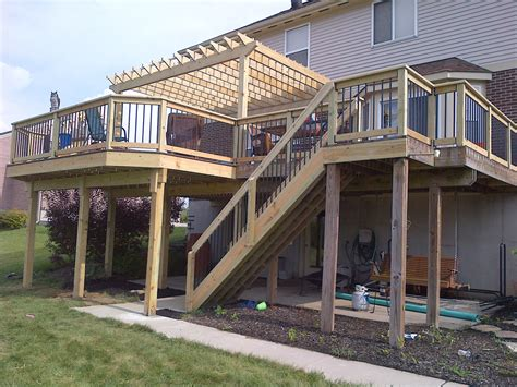 two story deck two story deck google search shu house pinterest