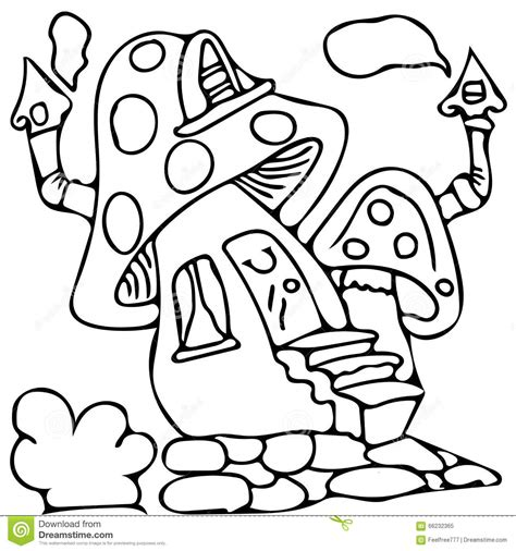mushroom house coloring pages smurf mushroom house coloring pages bltidm