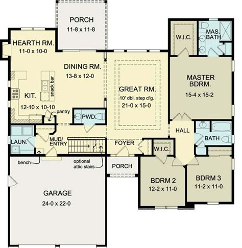 1900 Square Foot House Plans by Ranch House Plan 54075 Powder House And Layout