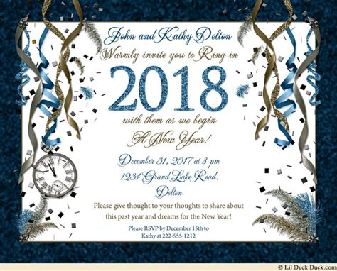 new year invitation new years invitation wording ideas 2018 verse