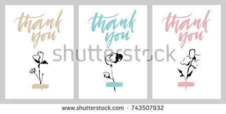 silhouette thank you card template stock images royalty free images vectors