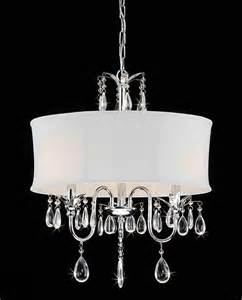 Crystal Chandelier With Black Drum Shade Crystal Chrome 3 Light Chandelier Contemporary