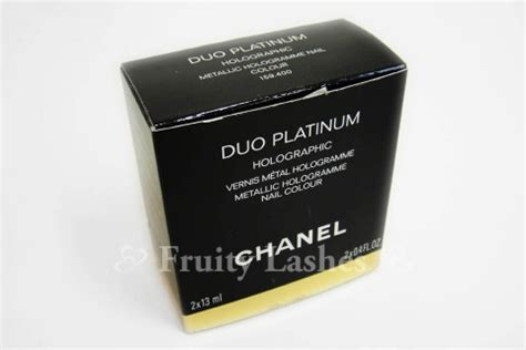 Chanel Duo Platinum Holographic Nail by Sneak Peak Chanel Nail Collection Fruity Lashes