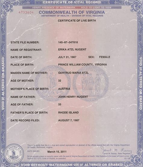 Births Record Get Vital Record Birth Certificate Birth Certificate Virginia Birth Certificate
