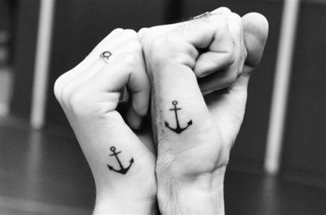 anchor tattoos for couples anchor wedding tattoos unique wedding ideas inked