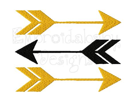 embroidery design arrow arrows machine embroidery design 4 sizes by hoopmamaembroidery