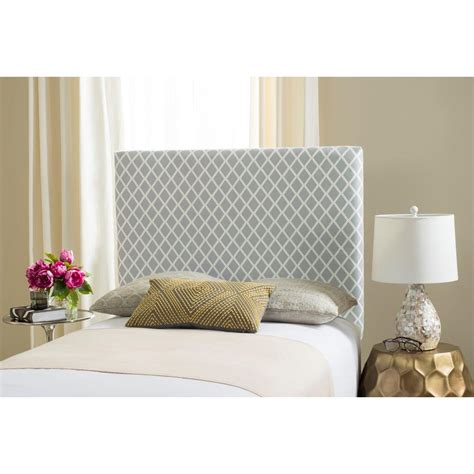lattice headboard safavieh sydney grey white lattice twin headboard