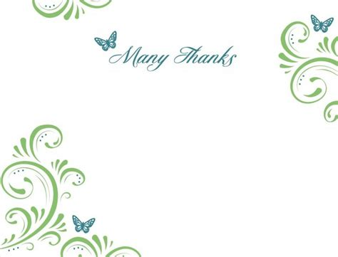 thank you card design template wedding card design square white flat paper green floral