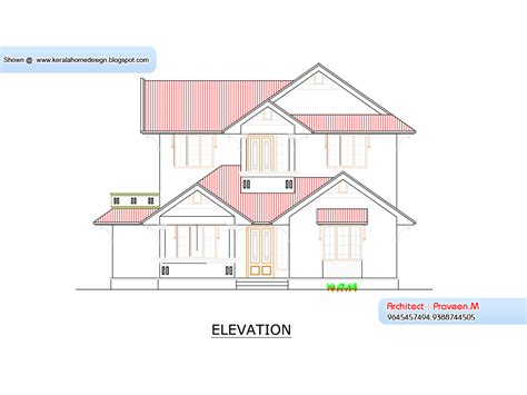 kerala home plan and elevation 1800 sq ft kerala