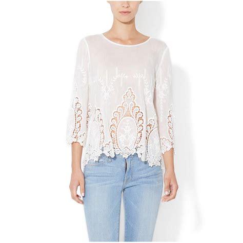 Venetta Blouse Limited cynthia rowley white 100 cotton vita dolce embroidered eyelet blouse top medium ebay