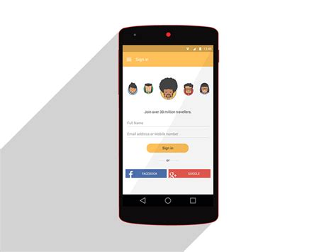 Design App Smartphone   avatar selection android lollipop material design app