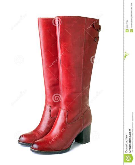 imagenes de botas rojas botas rojas para mujer foto de archivo libre de regal 237 as