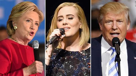 hillary clinton attends adele concert gets best adele says at miami concert i am 100 for hillary clinton