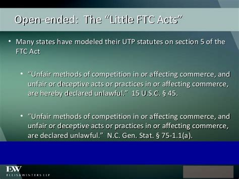 section 5 of ftc act the law of unfair trade practices practical tips for
