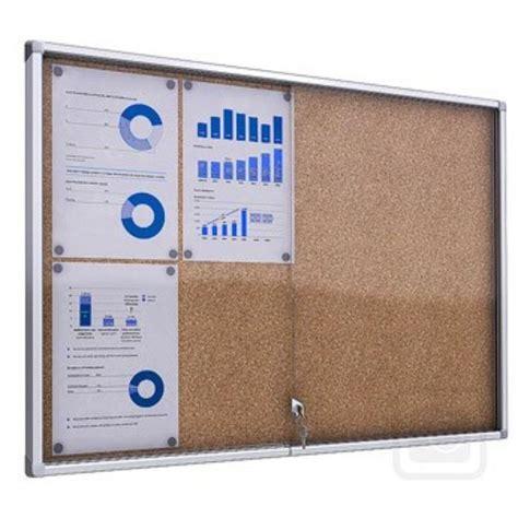 Design Your Own Garage indoor lockable cork notice board noticeboards