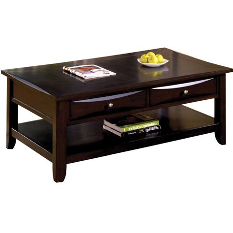 furniture of america coffee table furniture of america baldwin espresso coffee table