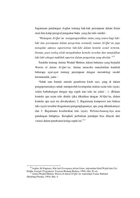 Buku Gender Inferioritas Perempuan makalah pendekatan gender dalam islam
