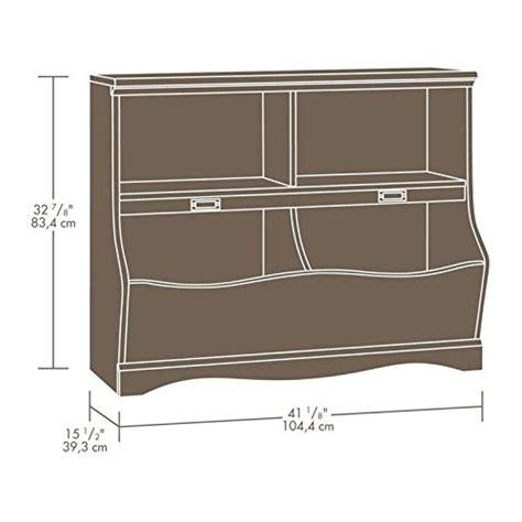 sauder large storage cabinet soft white finish sauder pogo bookcase footboard soft white finish