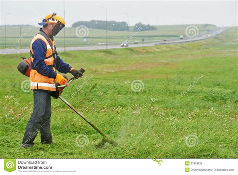 cutting grass games with a lawnmower lawn mower worker royalty free stock image image 33959826