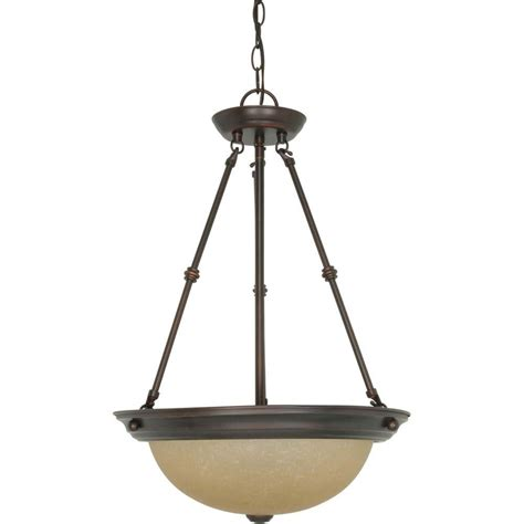 Bowl Pendant Light Hton Bay Florentina 3 Light Amandale Bowl Pendant 17013 The Home Depot